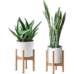 Milieu du Siècle en Bois Support de Pot de Fleurs Support de Plante en Bois pour Salon Salon Jardin Balcon Coin Porte Pot Plante