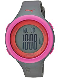 Puma Fit Unisex Digital Watch with LCD Dial Digital Display and Grey Plastic or PU Strap PU910961004