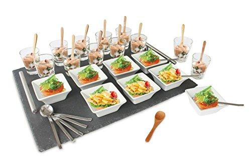Stylische Tapas Sets Vorspeiseteller Partyplatte Snackschalen Snackteller (33112)