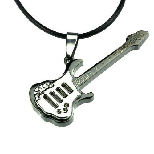 Herren Edelstahl Anhänger Schlüsselhalter Gitarrenform (Stiefel Erwachsene Männer Piraten)