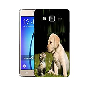 Snoogg Puppy and Kitty Designer Protective Phone Back Case Cover for Samsung Galaxy On5 Pro