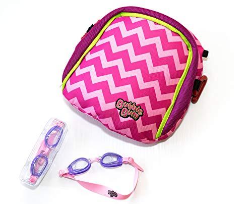 Plansch-Paket - BubbleBum Sitzerhöhung Schwimmbrille, Colour:Pink