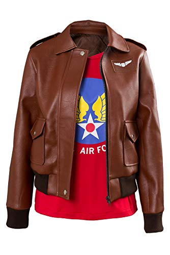 MingoTor Captain Marvel Carol Danvers U.S.Air Force T-Shirt Bomber Jacke Casual Anzug Cosplay Kostüm Damen XS Us-bomber