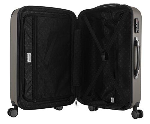 HAUPTSTADTKOFFER - Spree - 3er Koffer-Set Trolley-Set Rollkoffer Reisekoffer Erweiterbar, TSA, 4 Rollen, (S, M & L), Graphite,235 Liter - 9