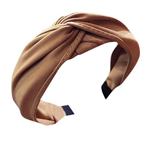 Yvelands Haarreife Haarband Stirnband Satin Vintage Kopf Warp mit Knoten Koreanisches und verknotetes Haarband im Retro Style für Damen Bow Knot Haarschmuck