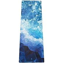 """Mala HYBRID Premium Yogamatte """"Poly Wave"""" aus Naturkautschuk mit Mikrofaser-Oberfläche für Bikram-Yoga, Hot-Yoga, Vinyasa, Crossfit, Fitness und andere Workouts"""