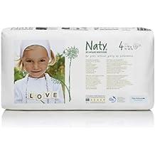 Naty by Nature - Pañales Eco para Bebés, Talla 4 (7-18 kg) - 46 pañales