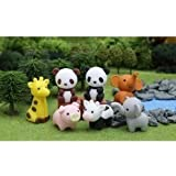 Cute Iwako Japanese Puzzle Take Apart Erasers Zoo Animals Set of 7 with Recyclable Non-PVC Material Jouets, Jeux, Enfant, Peu, Nourrisson