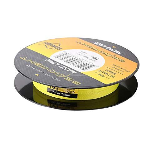 PEBAR 4 Fach Geflochtene Angelschnur(300 m/328Yards) Durchmesser 0.08/0.10mm im PE Material Braid Fortgeschrittene High Qualität,Yellow,0.3