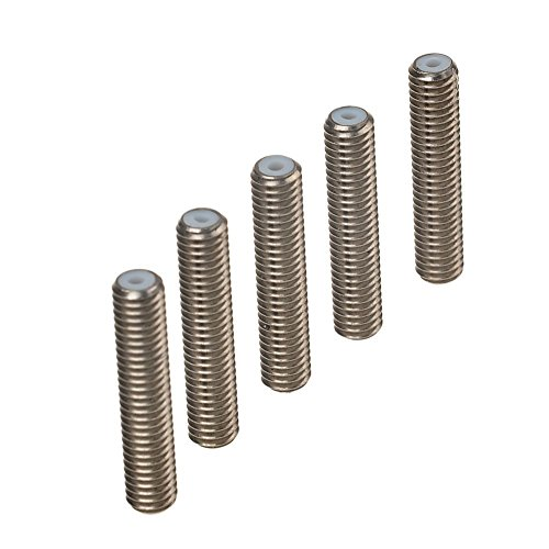 redrex-5pcs-barrel-stainless-steel-m6x30-nozzle-throat-with-ptfe-tube-for-mk8-makerbot-3d-printer-ex