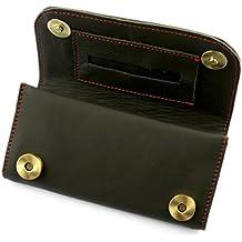 A.P. Donovan - petaca de cuero - caja de la bolsa con cierre magnético (15 cm x 8 cm) - Asunto Dreher - marrón