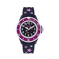 s.Oliver meisjes analoog kwarts horloge met siliconen armband SO-3926-PQ
