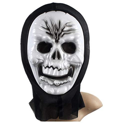 YWJ Maske Halloween Clown Masken kostüm Kinder Killer Ostern werwolf Spiel Pferde Latex Accessoires Pferd Einhorn Spielzeug Erwachsene halbmaske bemalen Party maskenball Karneval,2 (Halloween-kostüm Kind Pferd)