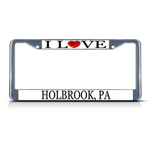 Nummernschild Rahmen I LOVE Herz Holbrook PA Aluminium Metall Nummernschild Rahmen
