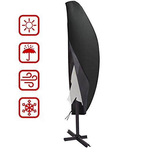 Housse parasol déporté, Housse parasol deport, Housse parasol, Imperméable à l'eau 210D taffetas polyester résistant respirant couverture de protection pour parasol de jardin