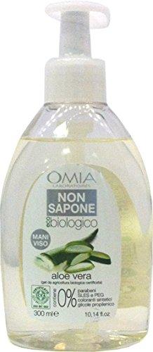 6 x OMIA Non Sapone Igiene Mani&Viso Eco Biologico Aloe V.300 Ml