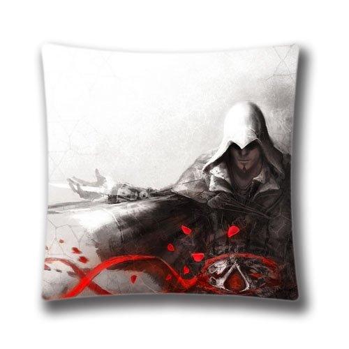 ation Baumwolle & Polyester quadratische Kissenbezüge Assassins Creed Kunst bedruckt Kissenüberwurf Imitat Kissenbezug 45,7x 45,7cm ()