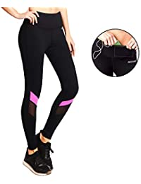 Ogeenier - Deportivas Leggings Yoga Pantalón, Mallas Deportivas de Mujer Leggings para Running Fitness Gimnasio Ejercicio