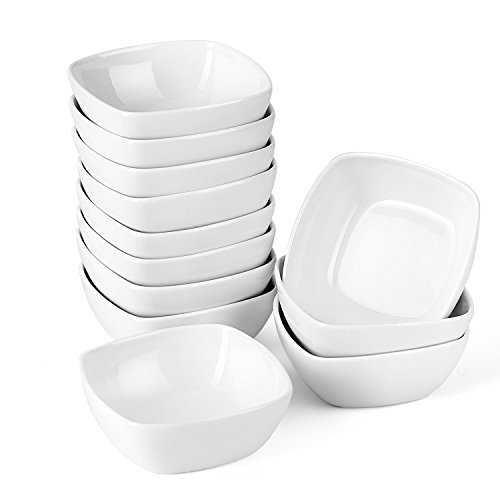 """MALACASA, Serie Ramekin.Dish, 12-TLG. Mini Dippschälchen Snackschale Schälchen Dessert Schale 4""""/10cm/170ml"""