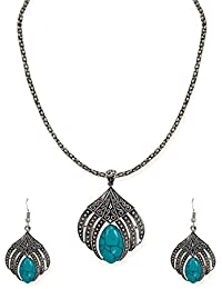 Zaveri Pearls Jewellery Set For Women (Silver) (ZPFK6497)