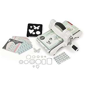 Sizzix 661545 Big Shot Starter Kit Fustellatrice, Plastic, White/Grey