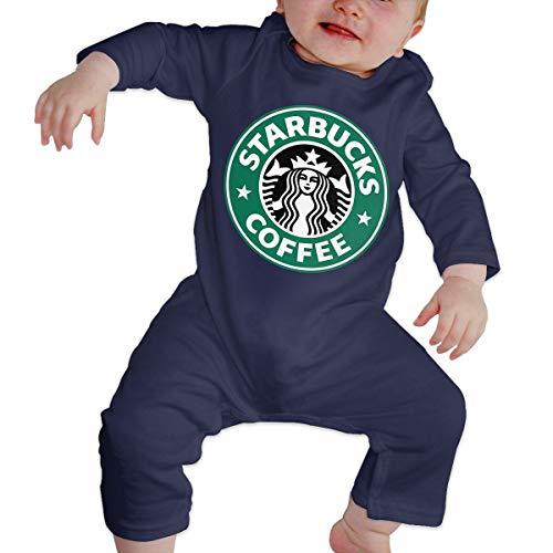 Kinder Baby Mädchen Jungen Bodys T-Shirt Starbucks Logo T Shirt Shirts Für Kleinkind Mädchen Jungen Langhülse Navy 2 T -