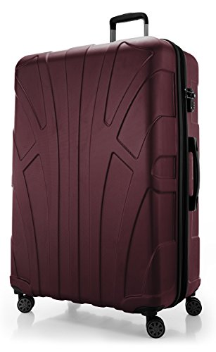 SUITLINE - 3er Koffer-Set Trolley-Set Rollkoffer Hartschalen-Koffer Reisekoffer, TSA, (S, M & L), Titan