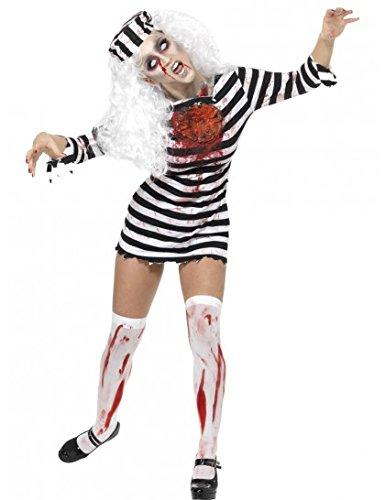 Déguisement zombie prisonnière adulte (Halloween Perruque Kostüm)