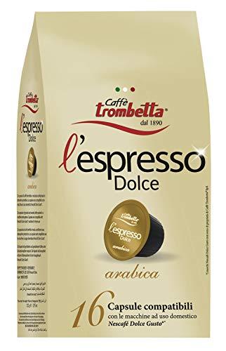 Caffè trombetta l'espresso dolce arabica - 8 confezioni da 220 g