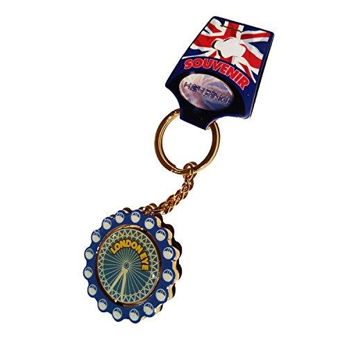 Rugged, tragbar London UK London Eye Historic Ferris Wheel Spinner Schlüsselanhänger/Schlüsselanhänger/Schlüsselanhänger/Schlüsselanhänger Souvenir. Eine Haltbare, Classic London, England British UK Collectible Schlüssel Ring. -
