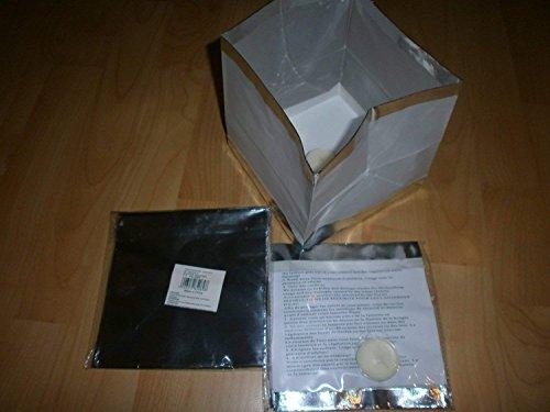Schnooridoo 4 x Wasserlaterne Wasserlampion mit Teelicht Papierlaterne 15 cm - Silber