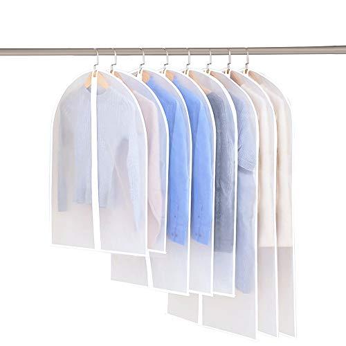 iToncs 8 Stücke Kleidersack, 80*60cm + 100*60cm + 120*60cm Kleidersäcke Kleiderschutzhülle, Atmungsaktiver Stoff mit Weiß Reißverschluss - Erstklassiger Schutz Aufbewahrung für Anzüge und Kleider