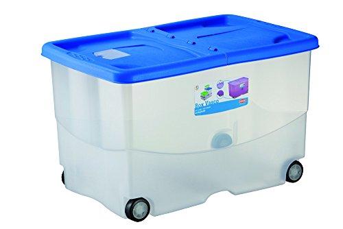 Stefanplast vasco scatola con coperchio e ruote, plastica, colori assortiti