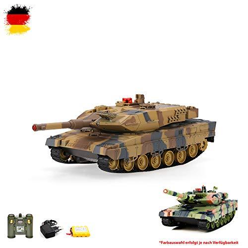RC ferngesteuerter German Leopard II A5 Panzer 2.4GHz Edition Tank Militär-Fahrzeug Modell, Gefechtmodi, Schusssimulation, Sound und Beleuchtung Komplett-Set