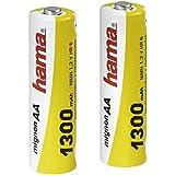 Hama - NiMH Battery 2x AA (Mignon - HR 6) 1,2 V/1300 mAh, Níquel e Hhidruro Metálico, 1300 mAh, 1.2 V