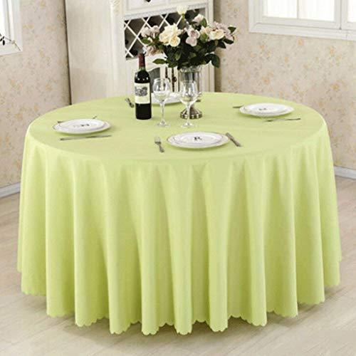 päischen Mode Jacquard Graue Pflaume Blume Runde Tischdecke Tischdecke Abdeckung Tischläufer Einfarbig (Size : 300 * 300cm) ()