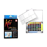 Sakura XNCW-48N Assorted Brush Koi Watercolor Field 48 Color Sketch Set