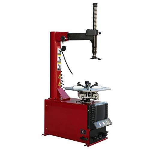 Festnight Halbautomatische Reifenwechselmaschine Stahl Montiermaschine Gerät Reifenmontagemaschine Rot 609,6 mm/24 Zoll