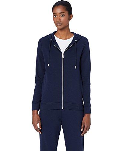 MERAKI Damen Hoody mit Reißverschluss, Blau (Blue), XX-Large