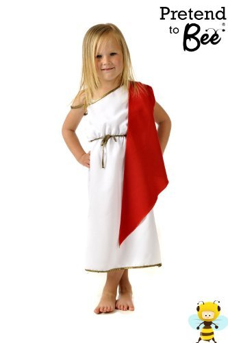Kostüm Griechischen Kaiser - Boys / Girls römischen oder griechischen Kaiser / Kaiserin Kostüm 7-9 Jahre [Spielzeug]