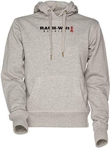 Vendax Rauh Welt Hongkong Unisex Herren Damen Kapuzenpullover Sweatshirt Grau Men's Women's Hoodie Grey