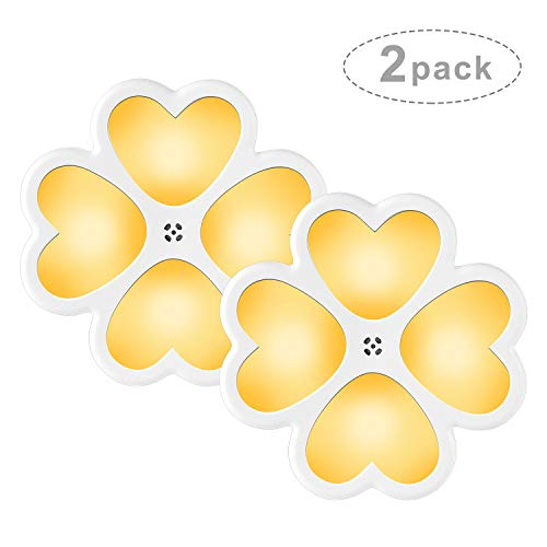 CMXX Luce Notturna Bambini, Lampada da Presa Luce Notte per Bambini, Corridoi, Vivai, Cucina, Scale - Caldo Giallo 2 Pieces