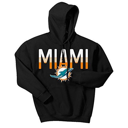 Zubaz Herren Kapuzenpullover NFL Denver Broncos Logo, Herren, Men's NFL Gradient Logo Hoodie, schwarz, X-Large