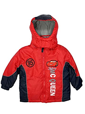 Cars Official Boys Winter Parka Jacket3Years Red (Jacke Cars)