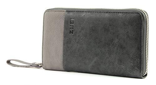 Zwei Eva EV2 Reißverschluss Geldbörse Portemonnaie Geldbeutel Brieftasche, black