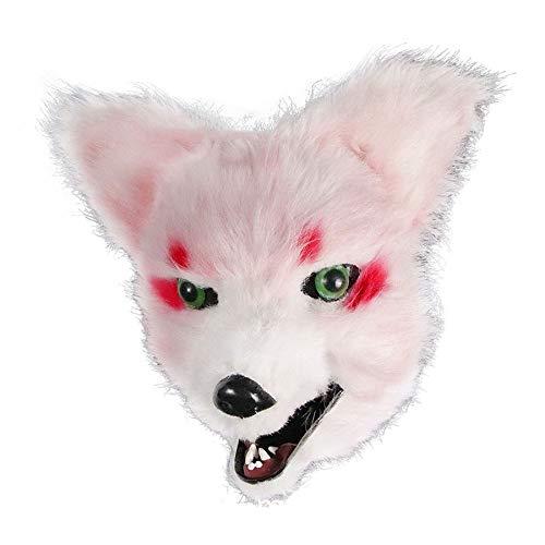 Maskerade Liefert Simulation Tier Maske Halloween Vollgesichts Fox Plüschtier Freie Größe
