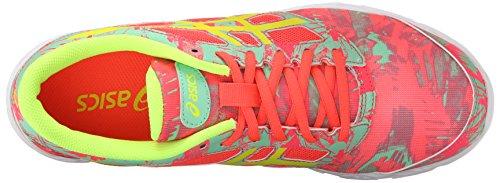 Asics 33-DFA- 2 GS Jugend Kunstleder Laufschuh Diva Pink/Flash Yellow/Spring Bud