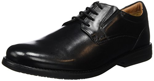 Clarks Hopton Walk, Scarpe Stringate Uomo, Nero (Black Leather), 42 EU