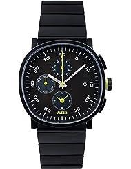 Alessi reloj infantil de cuarzo con para hombre esfera cronógrafo y negro correa de acero inoxidable AL5032
