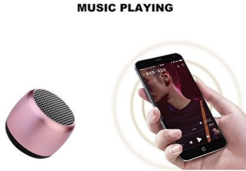 Samsung Galaxy Y Plus Compatible Bluetooth coin speakers - pink by MOBIMINT